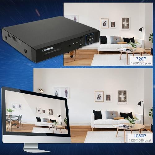OWSOO 4CH h. 264 1080p volle 1080N(960*1080) P2P Netzwerk DVR CCTV Sicherheit Telefon Control Erkennung E-Mail Bewegungsalarm für Überwachungskamera