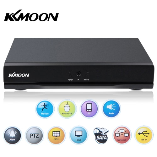 KKmoon® 8-Kanal 960H D1 CCTV DVR h. 264 HDMI-Video-Wiedergabe Netzwerksicherheit überwachen