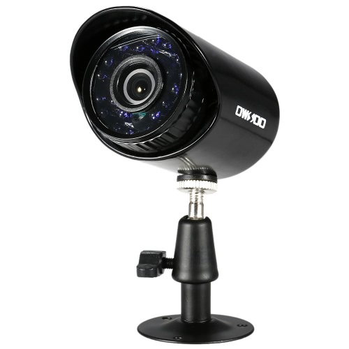 OWSOO 4 * 800TVL Outdoor / Indoor Einschuss Sicherheit CCTV-Kamera + 4 * 60ft Surveillance Kabel unterstützen wetterfeste IR-CUT Nachtsicht-Plug & Play-3.6mm 24 Infrarot-LEDs