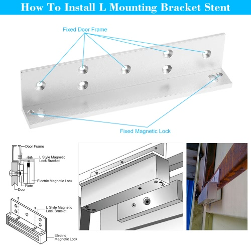 L Mounting Bracket Stent For 180KG 350lbs Magnetic Lock Door Aluminium Alloy Holder Stand, TOMTOP  - buy with discount