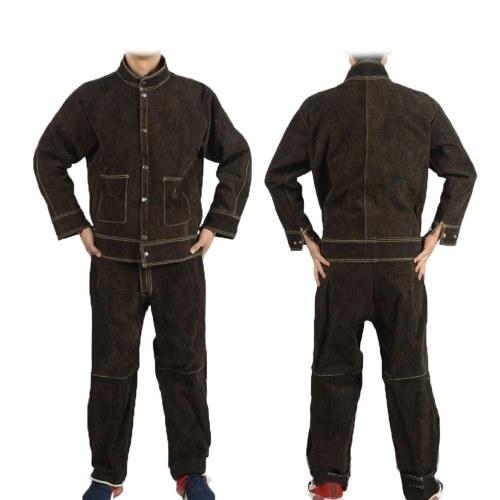 Термостойкая сплит-кожаная сварочная одежда