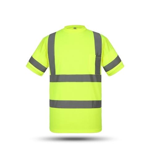 SFVest Alta Visibilidade Reflexiva Segurança Trabalho Camisa Refletiva Colete Roupas de Trabalho Respirável Segurança Reflexivo T-shirt Roupas de Trabalho de Segurança Camisa Polo