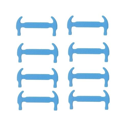 12Pcs cordones elásticos del silicón ninguÌ n cordón de la manera del martillo forman los cordones de la zapatilla de deporte para los deportes al aire libre Entrenador