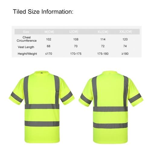 SFVest Высокая видимость Светоотражающая безопасность Рабочая рубашка Светоотражающий жилет Дышащая рабочая одежда Безопасность Светоотражающая футболка Рабочая одежда Безопасность Поло Рубашка фото