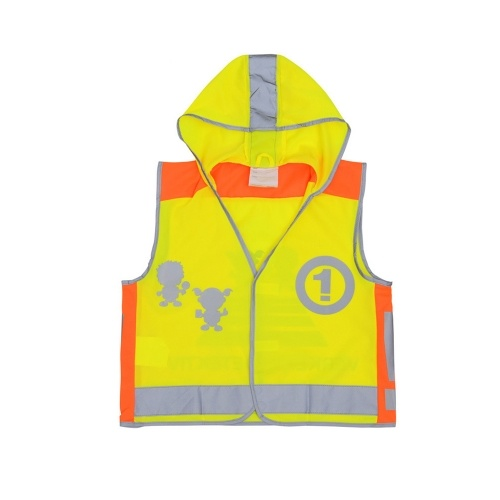 SFVest High Visibility Children Safety Reflective Vest Kindergarten Reflecting Coat Safety Clothing Reflective Clothes Vests Sport Reflective Fabric Outdoor Safety Road Traffic Warning for Kids Boy Girl