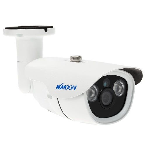 KKmoon  960P AHD Bullet Surveillance Camera 1.3MP 3.6mm 1/4'' CMOS 2 Array IR Lamps Night Vision IR-CUT Rainproof Indoor Outdoor CCTV Security NTSC System