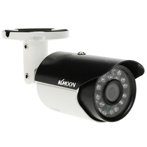 KKmoon®AHD 960P 1600TVLメガピクセルCCTVセキュリティ監視屋外屋内弾丸のカメラサポート全天候IRカットフィルター夜景プラグと24のLEDを再生
