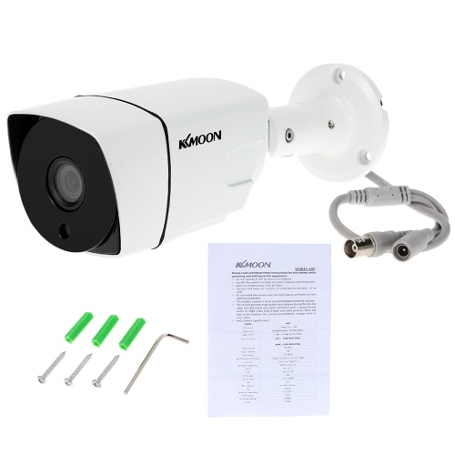 KKmoon 960P AHD CCTV Bullet Camera 1.3MP 3.6mm 1/3'' CMOS 36 IR Lamps Night Vision IR-CUT Waterproof Indoor Outdoor Home Security NTSC System, TOMTOP  - buy with discount
