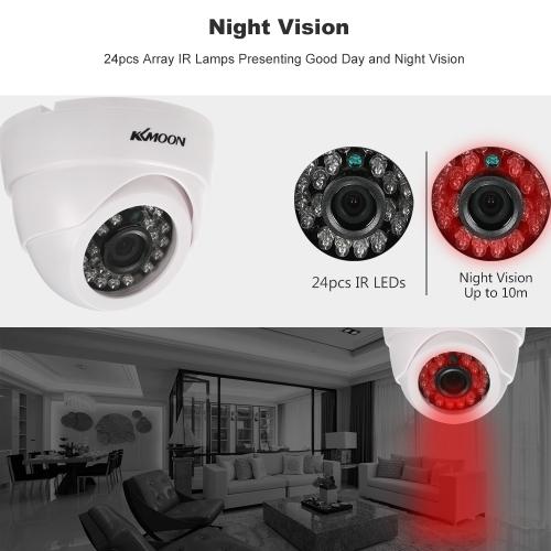 KKmoon 1080P AHD Dome CCTV Analog?Camera 3.6mm Lens 1/2.8¡¯¡¯ CMOS 2.0MP IR-CUT 24pcs IR LEDS Night Vision for Home Security NTSC System