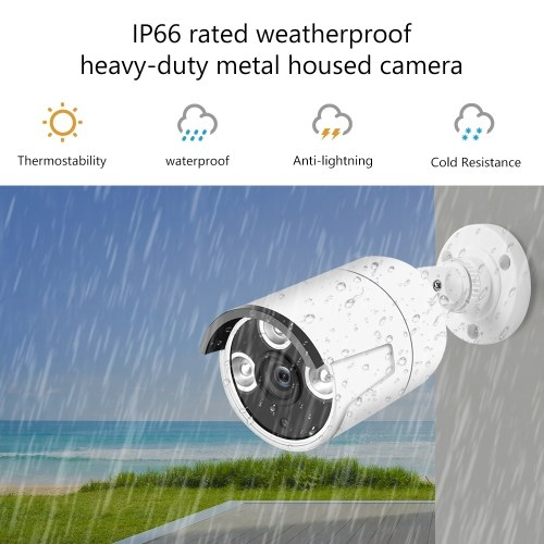 2.0MP 1080P Camera Security Camera Surveillance System Intelligent Motion Detection and Alerts System NTSC System