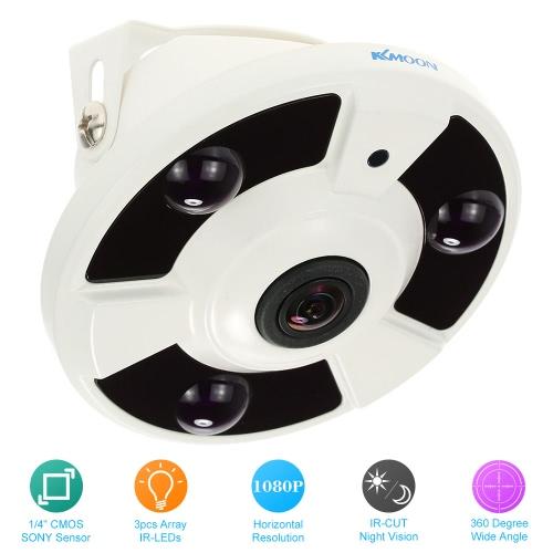 KKmoon HD 1080P 1,7 mm Fischauge 360° Panorama Security CCTV-Kamera-Startseite NTSC-Überwachungssystem