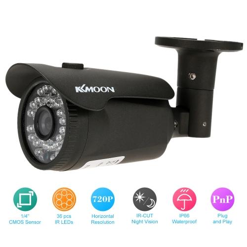 KKmoon 720p segurança CCTV câmera impermeável IR-CUT noite Vista Home sistema NTSC de vigilância