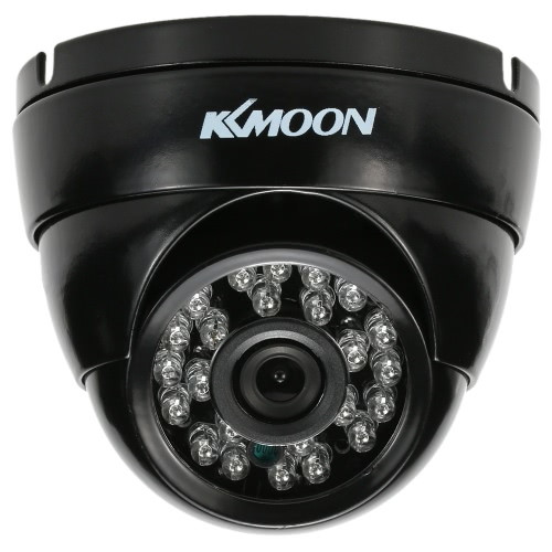 KKmoon  720P 1500TVL Dome AHD Surveillance Camera 1.0MP  3.6mm 1/4'' CMOS 24 IR Lamps Night Vision IR-CUT Waterproof Indoor Outdoor CCTV Security PAL System