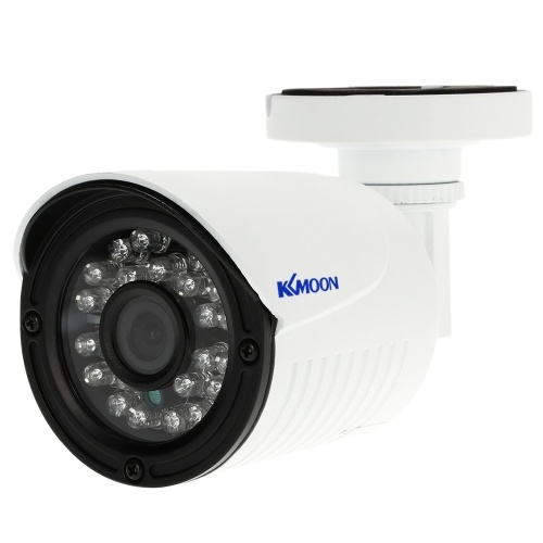 KKmoon® AHD 1080P 2000TVL Megapixels CCTV Security Surveillance Outdoor Indoor Bullet  Camera support weatherproof IR-CUT Filter Night View Plug and Play 24 LEDs