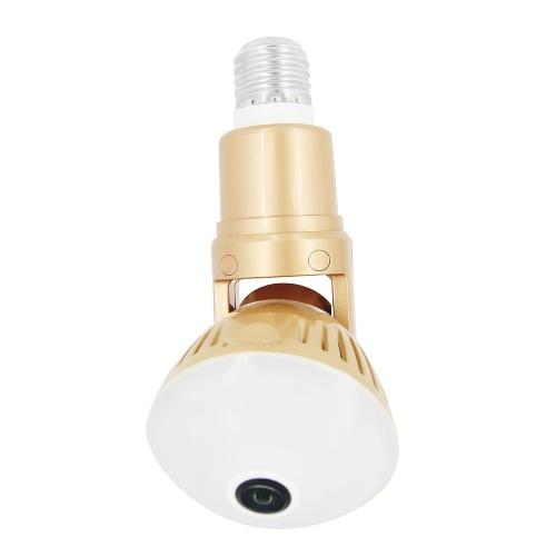 1080P 200W Bulb IP Camera 360°Panoramic WiFi Wireless Camera