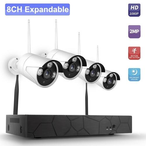 K8208-8 8CH NVR + 4 Cameras Wireless NVR Kit