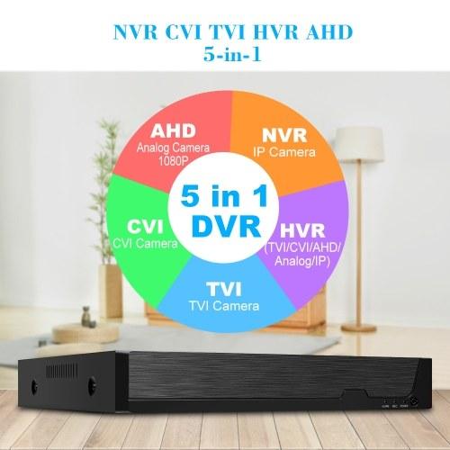 8-канальный цифровой видеорегистратор высокой четкости 1080P AHD / ONVIF IP / аналоговый / TVI / CVI / DVR CCTV Цифровой видеорегистратор DVR P2P Удаленный мониторинг телефона для домашнего офиса Комплект системы видеонаблюдения Камера (без жесткого диска) Соединительный штекер фото