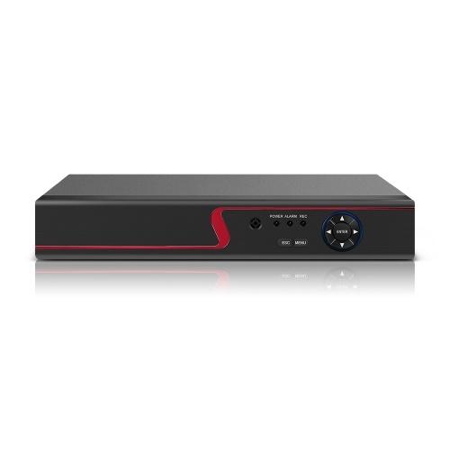 16CH 1080P Voll HDD-Hybrid AHD / ONVIF IP / Analog / TVI / CVI / DVR CCTV-Digitalvideorecorder DVR P2P-Fernüberwachung für das Home-Office-Sicherheitsüberwachungssystem Kit Kamera (KEINE Festplatte) EU-Stecker