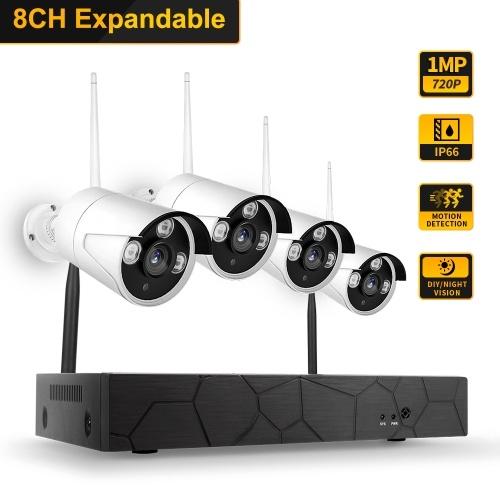 K8208-8 8CH NVR + 4 Kameras Wireless NVR Kit