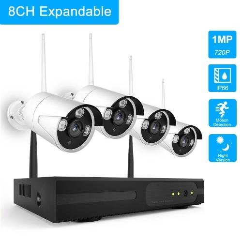 Kit NVR wireless K9604 8CH + 4 telecamere