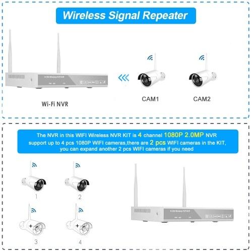 XF-1604M 4CH NVR + 2 Cameras Wireless NVR Kit