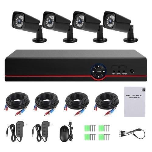 Video Security Digital Recorder + 4 Stück analoge Überwachungskameras