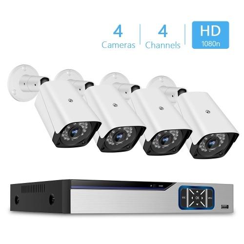 1080n Pro HD + 4-канальный цифровой видеорегистратор безопасности + 4 шт. Аналоговых камер безопасности (HDD не входит в комплект) США Plug фото