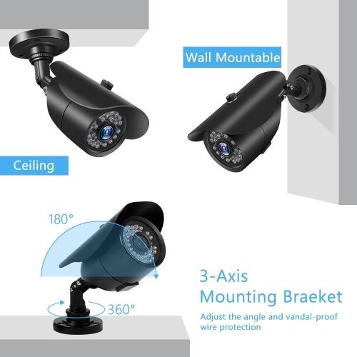 1080P HD 2.0MP Bullet Camera con custodia in metallo 36pcs IR-CUT incorporato Luci a LED Sistema di movimento intelligente IP66 Sistema impermeabile Pal