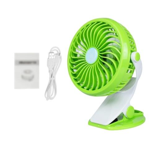 Мини настольный вентилятор Портативный ручной зажим на вентилятор с питанием от аккумулятора (не входит в комплект) или USB
