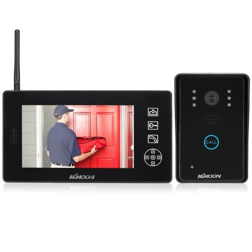 KKmoon 2,4-GHz-7 '' Wireless LCD-Farb-Video-Türsprechanlage Intercom-Türklingel-Unterstützung entriegeln Snapshot Nehmen Nachtsicht wasserdicht für Heim surveillence
