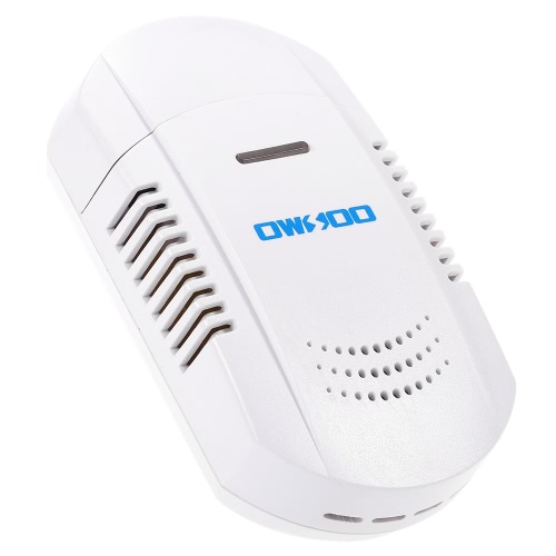 OWSOO  Plug-In Combustible Gas Leakage Detector Flash & Strobe Alarm Sensor for Home House Security Alarm System