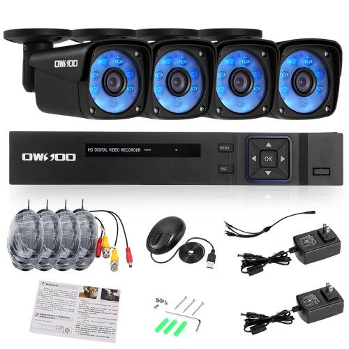 OWSOO 8CHフルAHD 1080N 1500TVL DVRセキュリティシステム
