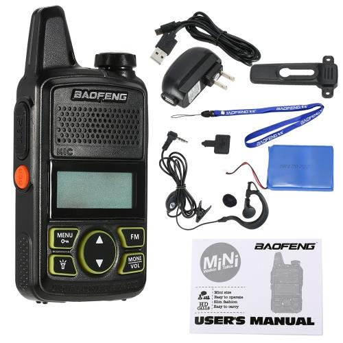 BaoFeng BF-T1 Mini Zweiweg Funk Walkie Talkie UHF 400-470 MHz 20CH Tragbare Hand Interfon 1500 mah Batterie Taschenlampe