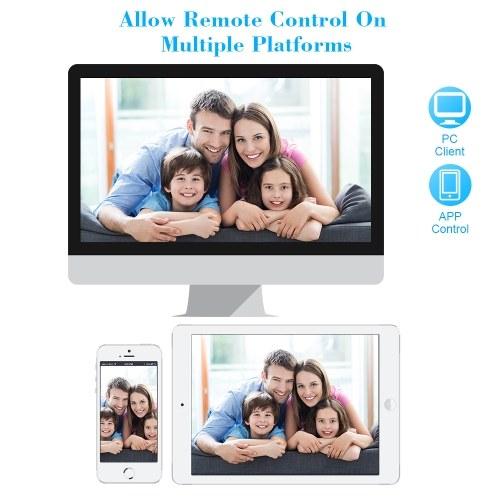 KKmoon 4CH 1080P HD WiFi NVR Kit with 4pcs 1.0MP Wireless WiFi Waterproof Outdoor Bullet IP Camera