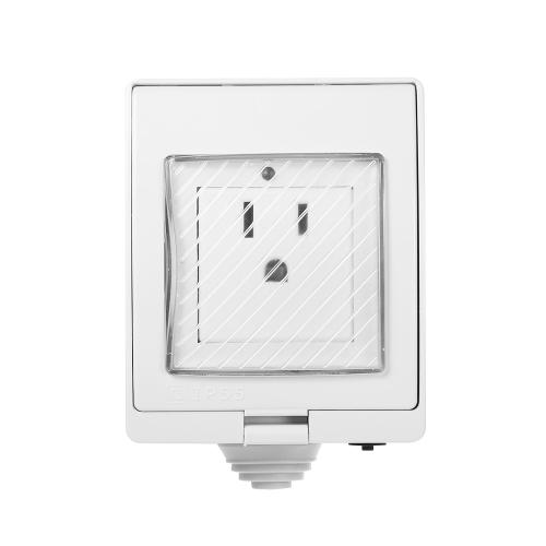 Intelligente Indoor Outdoor Drahtlose WIFI Buchse IP55 Wasserdichte Unterstützung Telefon AAP Control Timing Funktion Sprachsteuerung Funktioniert mit Google Home & Amazon Alexa