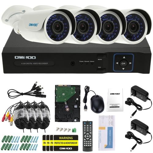 OWSOO 4CH Kanal Full AHD 1080N CCTV Überwachung DVR Sicherheitssystem