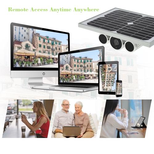 Wireless HD 1080P WiFi Solar & Battery Power Bullet IP Camera
