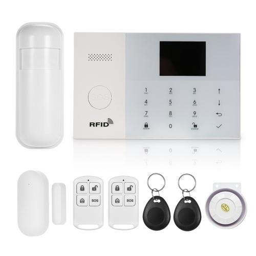 Sistema de segurança sem fio do alarme 433MHz GSM & WIFI SMS Auto-dial