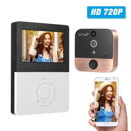 720P WIFI PIRドアアイビデオインターホンドアベルカメラ