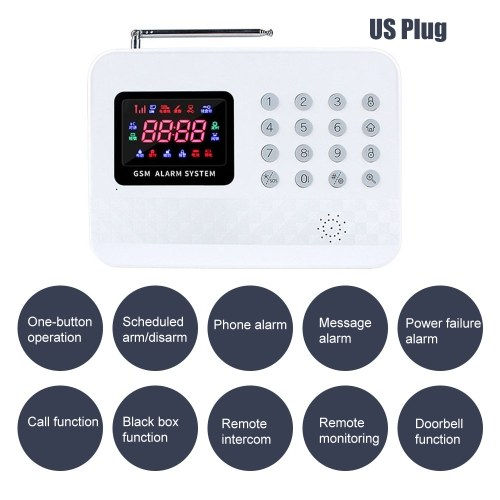 GSM Alarm System with Digital LCD Display Wire-less Home Security System with Remote Control