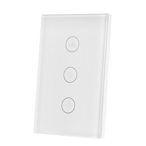 Tuya WiFi Smart Ceiling Fan Switch US/AU Smart Touch Switch Timer APP Remote Control Speed Adjustable Compatible with Amazon Alexa, Google Home Voice Control
