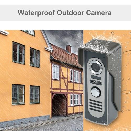 OWSOO 7-дюймовый цветной видеодомофон, дверной звонок, домофон