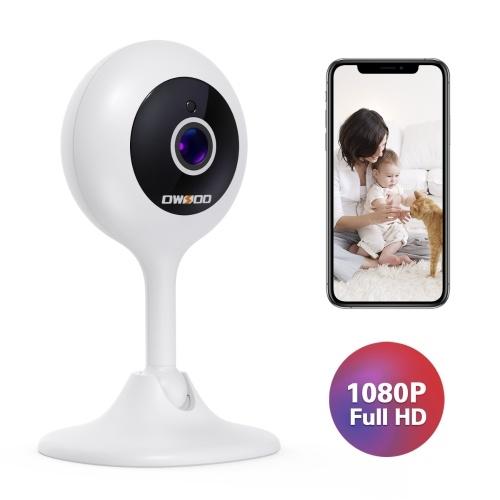 OWSOO Видеоняня WiFi камера 1080P FHD Домашняя камера безопасности с ночным видением / Обнаружение звука и движения / 2-сторонняя аудиосвязь для детей / пожилых людей / домашних животных, совместимых с системами iOS и Android