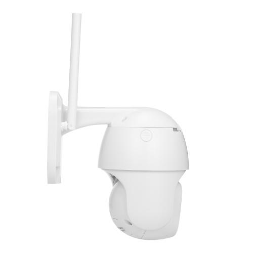 WiFi Smart Camera Monitor IP66 Intelligentes Tracking 1080p HD Vollfarb-Speed-Dome-Kamera CCTV-Überwachungskameras 2-Wege-Audio Eingebauter Lautsprecher IR-CUT mit TF-Kartensteckplatz für Home Surveilance