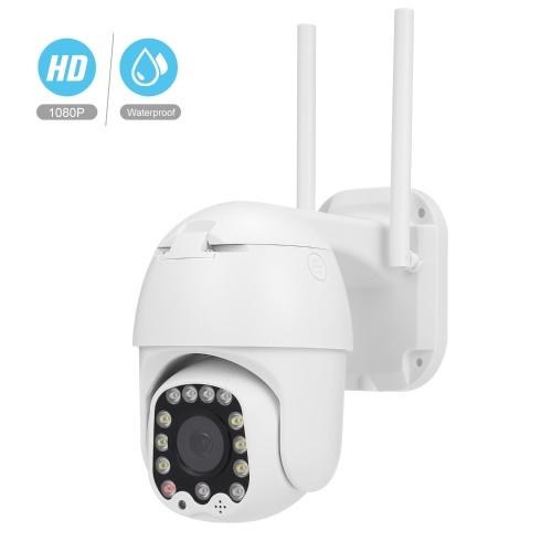 Wi-Fi Smart Camera Monitor IP66 Интеллектуальное слежение 1080p HD Полноцветная скоростная купольная камера Видеонаблюдение Камеры безопасности 2-полосная аудиосистема Встроенный динамик IR-CUT с гнездом для TF-карты для домашнего наблюдения