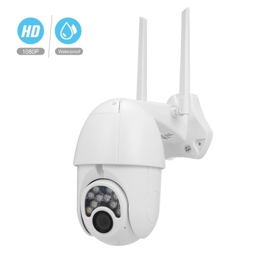 V380 WIFI Smart Camera Monitor 2.0MP Indoor Outdoor 1080p HD Full Color Speed Dome Camera CCTV Security Cameras 2-Way Audio Built-in Speaker IR-CUT with TF Card Slot for Home Surveilance
