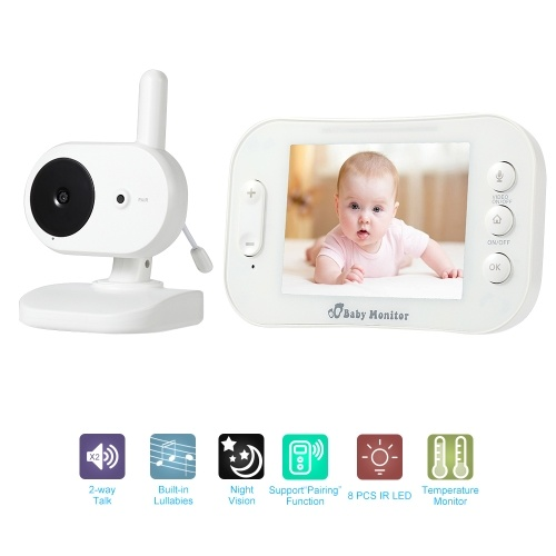 3.5 inch Wireless TFT LCD Video Baby Monitor Kits