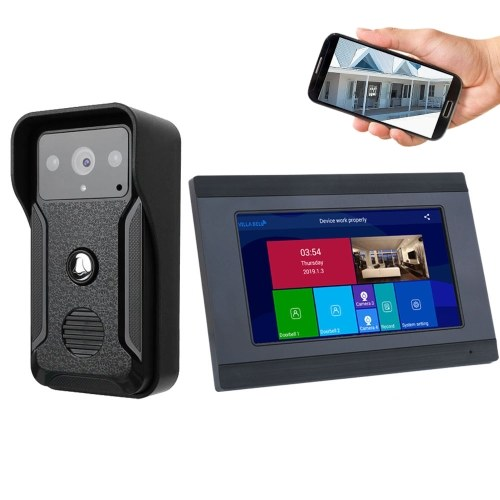 1080P 7 Inches WIFI Smart Video Intercom Doorbell Door Phone