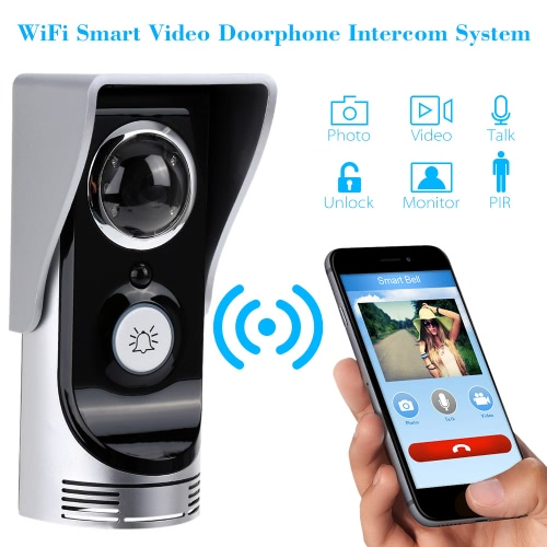 Wi-Fi Enabled Rainproof Video Doorbell for Android or IOS