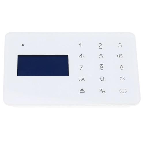 Kabelloser 433MHZ GSM LCD Bildschirm SMS Hause Einbrecher Alarmsystem PIR Melder Sensor Kit Remote Control Android IOS